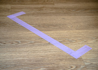 Masking tape delicate surfaces for signage worksOne of our customers, specialized in signage works was using most of the time some duct tape for floor delimitation. For some difficult surfaces, he encountered a problem of adhesive residue on the floor after removal. We delivered our reference 48100, masking tape specially designed for delicate surfaces with clean removal without residue, which highly satisfied him.