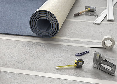 Double-sided tapes with differential adhesion power for fixing carpets during fairs and events During fairs and events, kilometers of carpets are installed on the booths.Those carpets are removed after a few days. The removal has to be quick, clean and free of residue on the floors. Otherwise the installers have to pay fines by cleaned m².Our references 17300, double-sided polyester film tape and 18300 double sided fabric tape present a differential adhesive power. Both of them offer a high tack and a low tack side. The low tack side is applied to the floor and the high tack side to the carpets. It allows to remove long lengths of carpet in one time with clean removal without residue.
